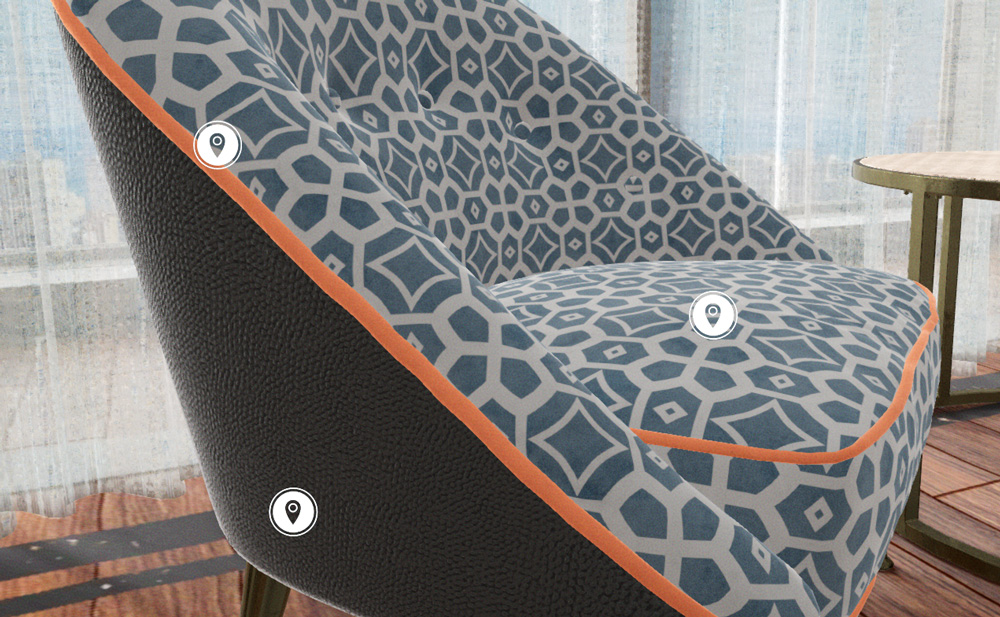 Bini configuratore 3d tessuto arredamento interni showin3d for Configuratore arredamento